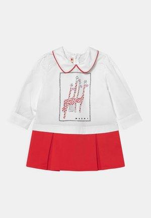 Shirt dress - full red
