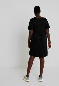 Simply Be - ANGLE SLEEVE SMOCK DRESS - Denní šaty - black - 3