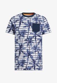 WE Fashion - MET STREEP- EN PALMBOOMDESSIN - Print T-shirt - blue - 3