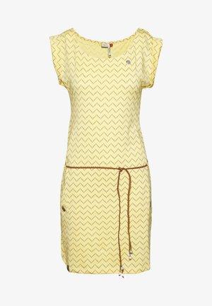 TAG ZIG ZAG - Žerzejové šaty - yellow