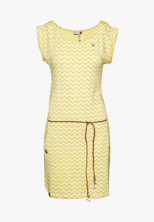 TAG ZIG ZAG - Jersey dress - yellow