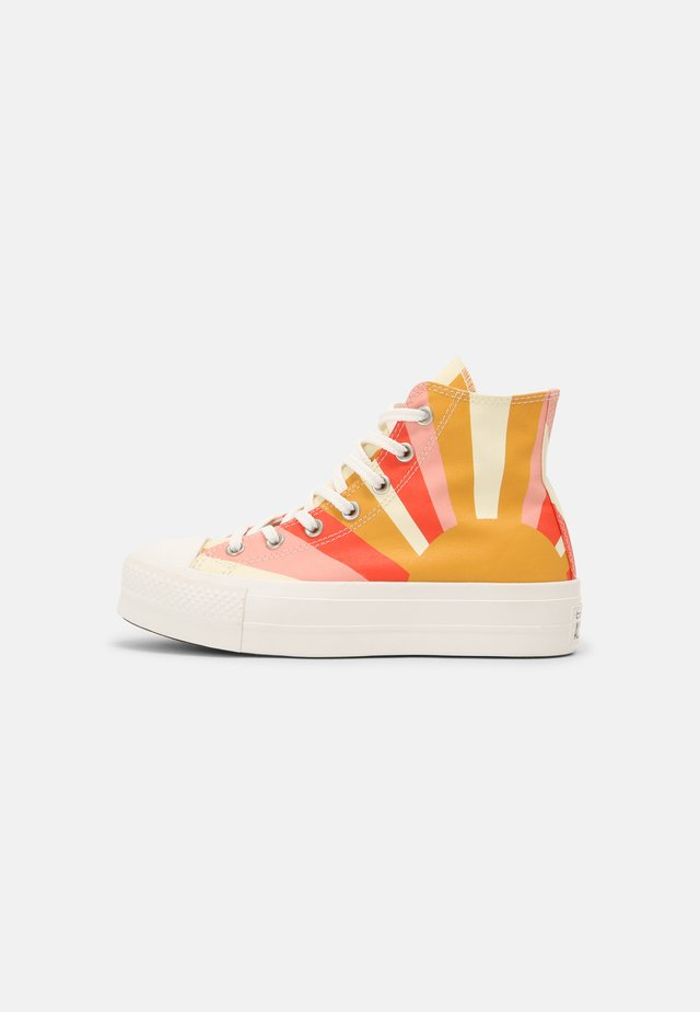 CHUCK TAYLOR ALL STAR LIFT - Sneakers hoog - sunflower gold/bright poppy/pink quartz