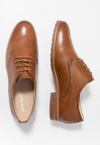 Anna Field Wide Fit - LEATHER - Derbies - cognac - 3