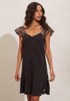 VIVIANA - Jersey dress - almost black