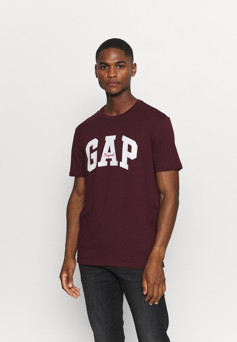 GAP - T-shirt z nadrukiem - pinot noir