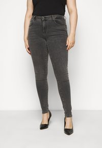 Selected Femme Curve - SLFINA SMOKE  - Jeans Skinny Fit - black denim - 0