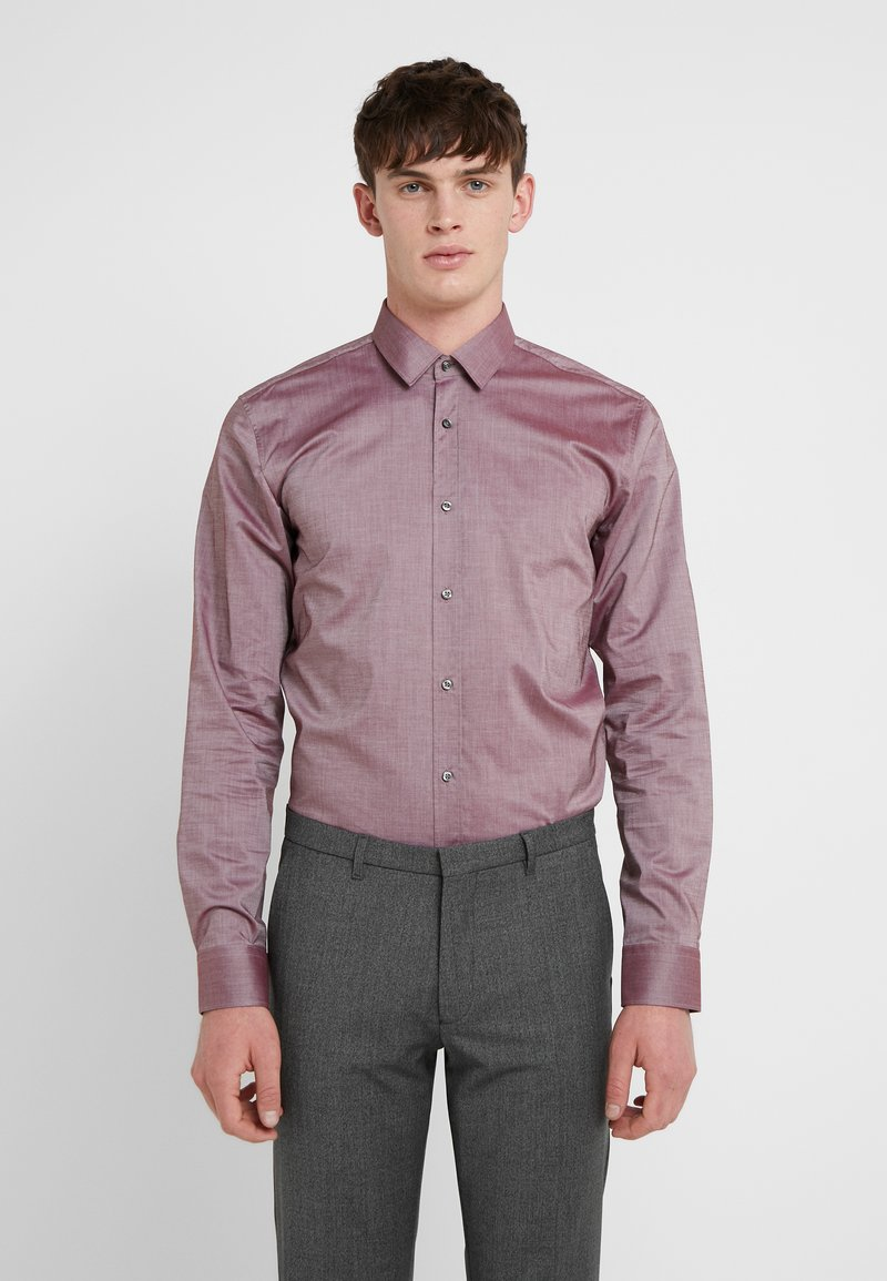 HUGO - ELISHA EXTRA SLIM FIT - Camicia elegante - dark red