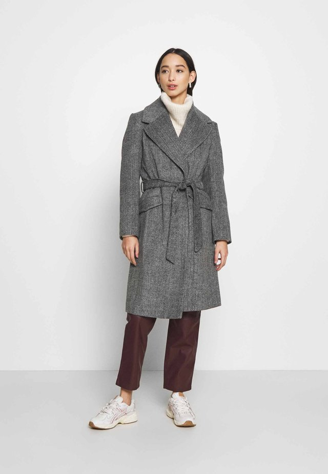 CLASSIC BELTED ROBE - Zimní kabát - grey marl