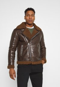 Brave Soul - PITTSBURGH - Faux leather jacket - brown - 0