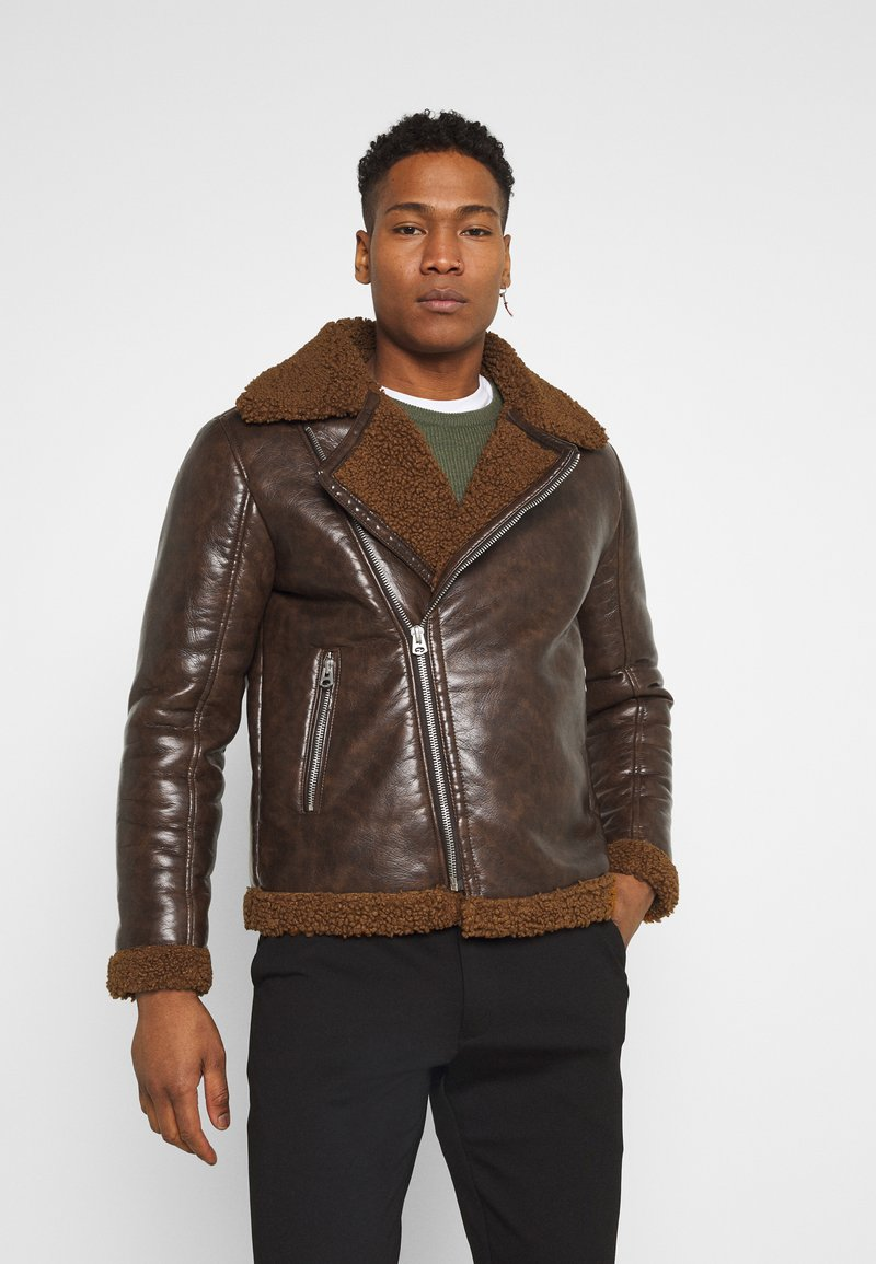 Brave Soul - PITTSBURGH - Faux leather jacket - brown