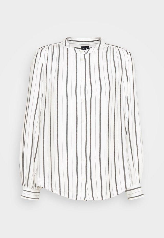 SHIRRED - Camicia - black white stripe