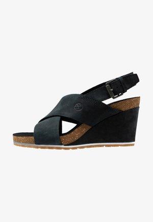 CAPRI SUNSET X-BAND - Sandaletter med kilklack - black