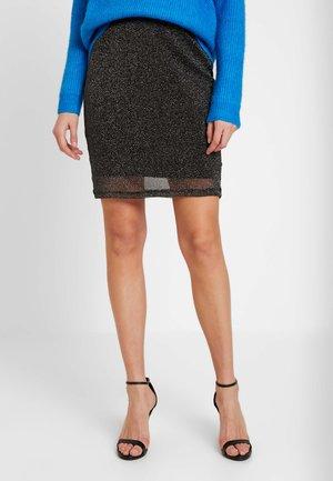 SPARKLING MINI SKIRT - Mini skirt - silver
