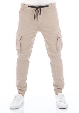 RIVHUGO - Cargo trousers - dark beige