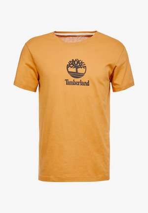 STACK LOGO TEE - T-shirt con stampa - wheat boot
