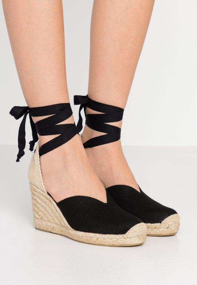 OLIMPIA - Korolliset sandaalit - black