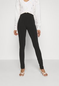 Gina Tricot - JADA SLIT - Leggings - Trousers - black - 0