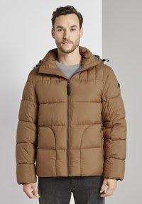 TOM TAILOR - MIT KAPUZE - Winter jacket - toasted coconut - 0