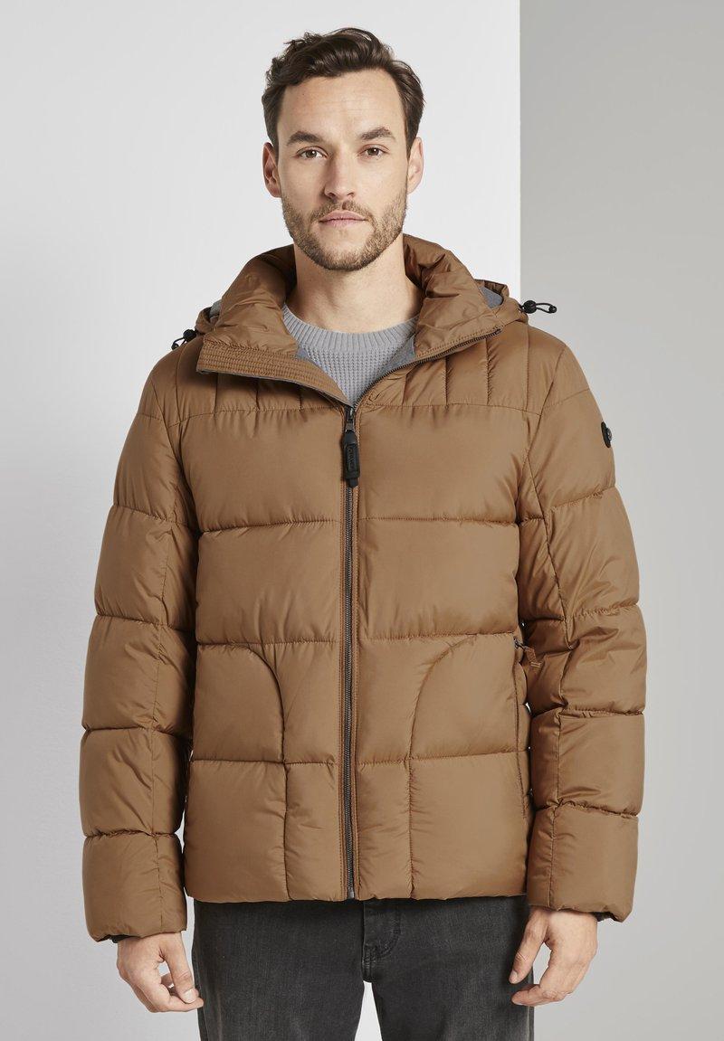TOM TAILOR - MIT KAPUZE - Winter jacket - toasted coconut