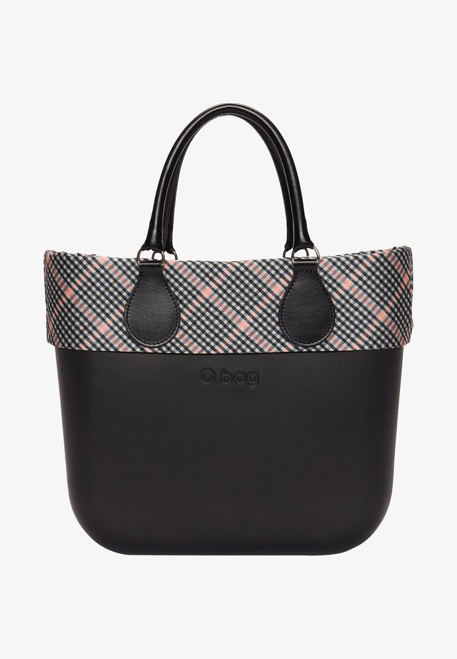 Shopping bag - nero/fantasia-rosa