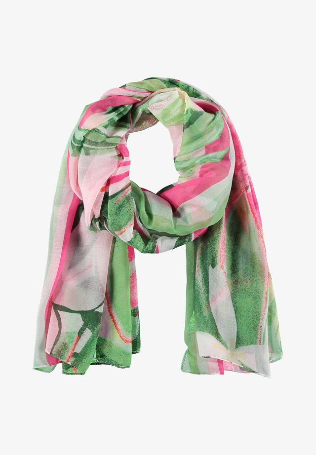 Schal - lila/pink/grün druck