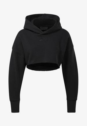 CARDI COLLAB CASUAL PULLOVER - Bluza z kapturem - black