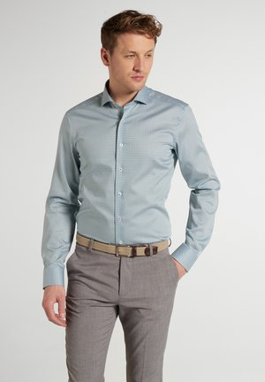 SLIM FIT - Shirt - blau/grün