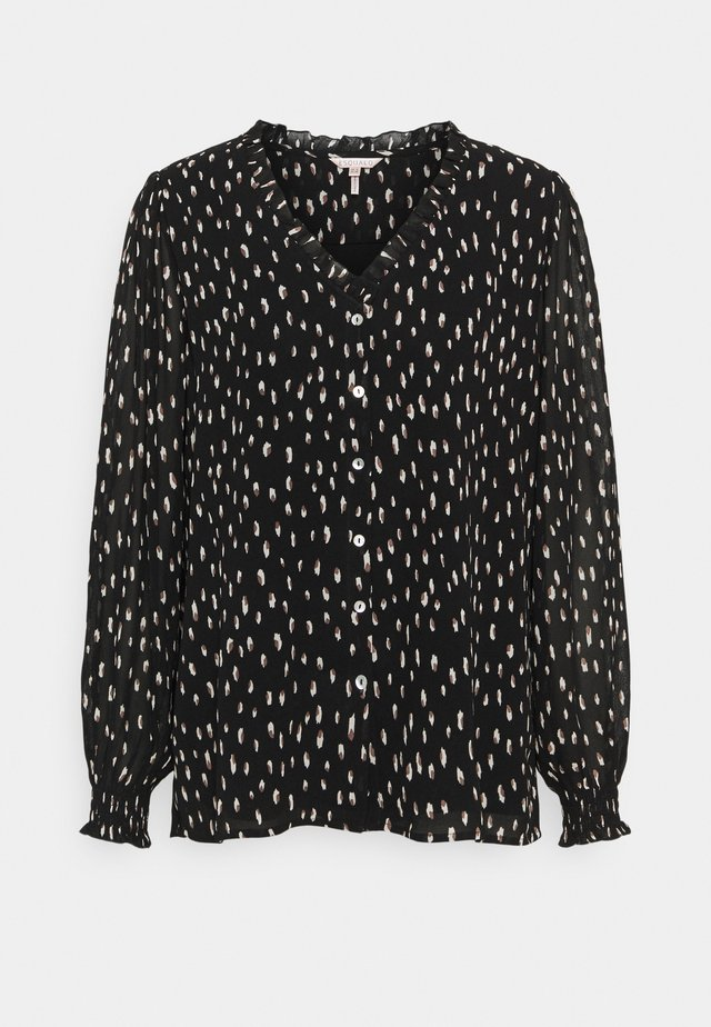BLOUSE DOUBLE DOT - Bluser - black