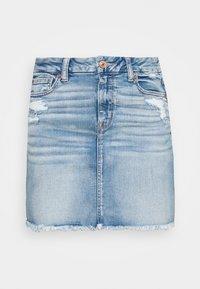 CURVY MINI SKIRT - Mini skirt - medium destroy