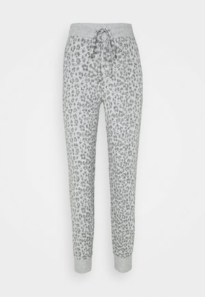 SNIT JOGGER - Pantaloni del pigiama - heather grey cheetah