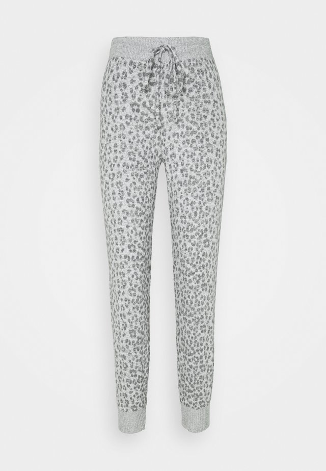 SNIT JOGGER - Spodnie od piżamy - heather grey cheetah