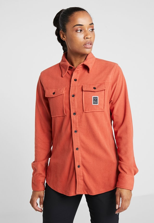 MAIN STREET - Button-down blouse - burnt brick