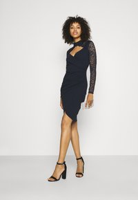 WAL G. - SONIA LACE DETAIL MIDI DRESS - Cocktail dress / Party dress - navy blue - 1