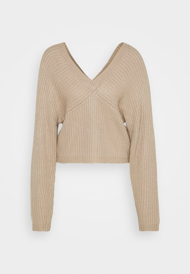 OFF SHOULDER  - Sweter - beige