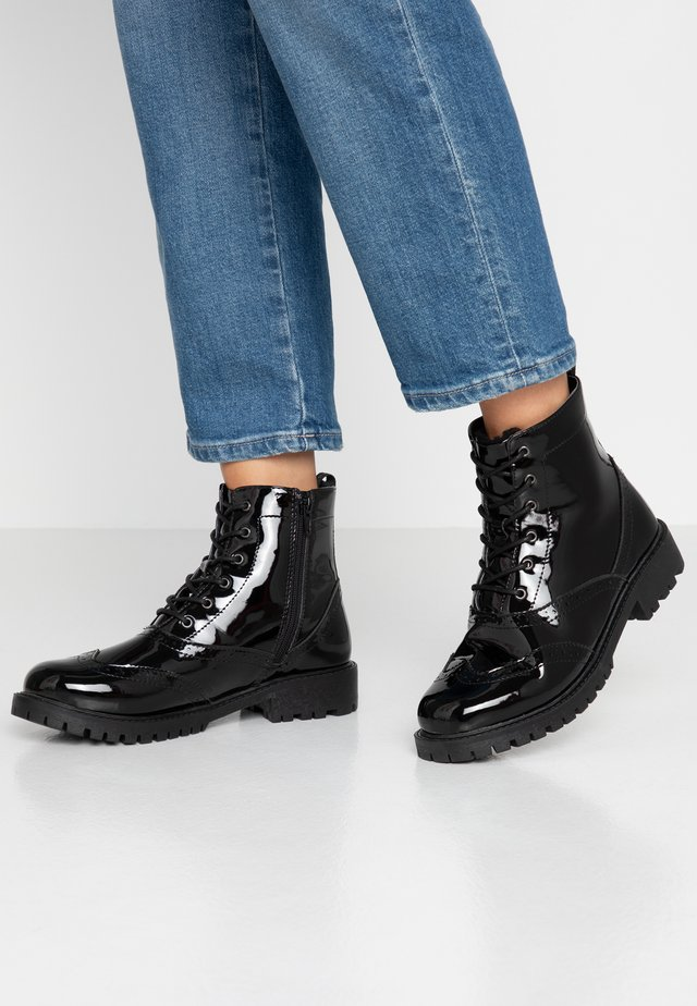 VMGLORIASIA BOOT WIDE - Lace-up ankle boots - black