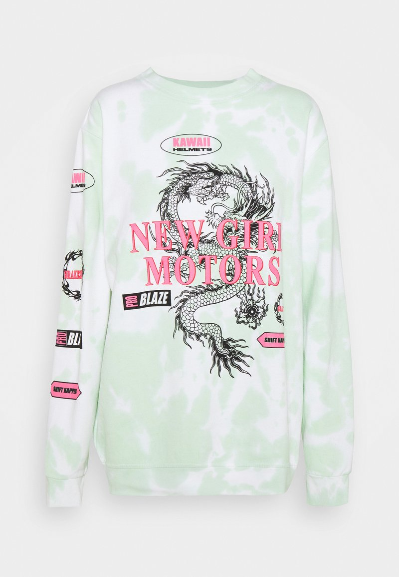 NEW girl ORDER - MOTOCROSS DRAGON TIE DYE - Sweatshirt - mint