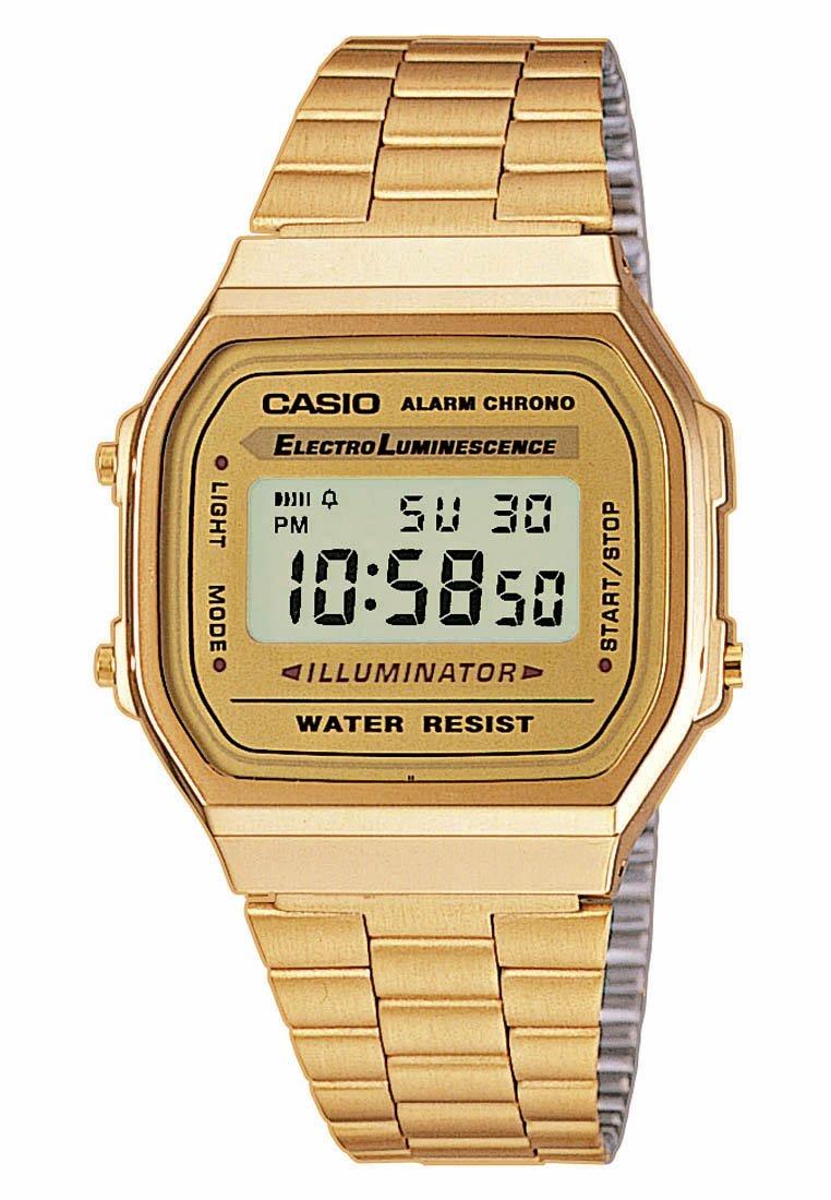Men Digital watch - gold