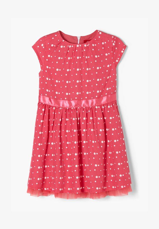 Korte jurk - pink aop