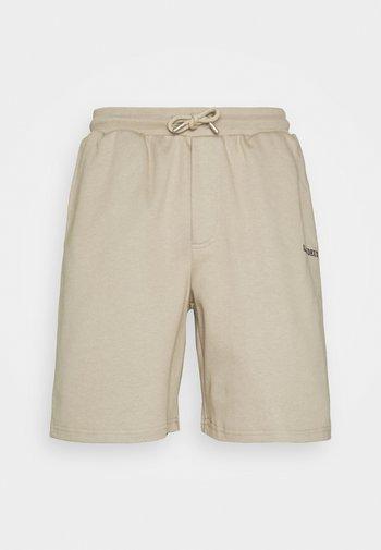 LENS - Shorts - dark sand/black