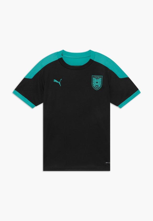 ÖSTERREICH ÖFB TRAINING - National team wear - black/blue turquoise