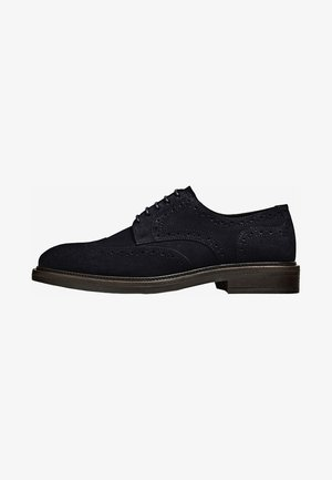MIT BROGUING  - Smart lace-ups - blue