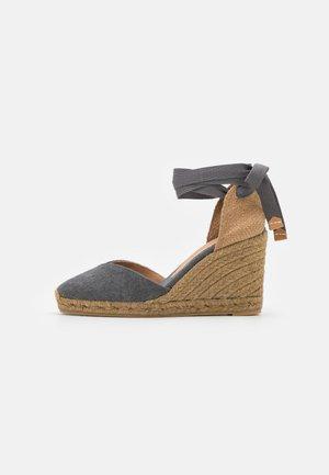 CHIARA  - Platform sandals - charcoal