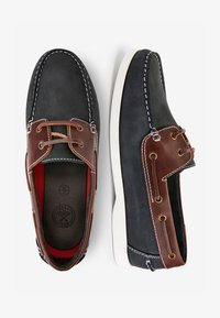 Next - NAVY LEATHER BOAT SHOES - Chaussures bateau - blue - 1