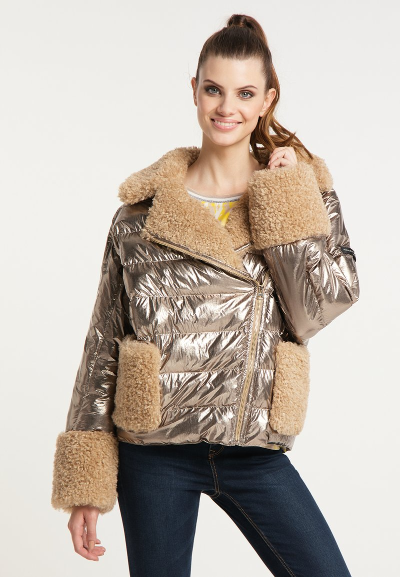 Frieda & Freddies - STEPPJACKE VANESSA MIT OVERSIZE SCHNITT - Winter jacket - gold