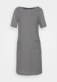 More & More - STRUCTURE DRESS - Gebreide jurk - marine/multicolor - 0