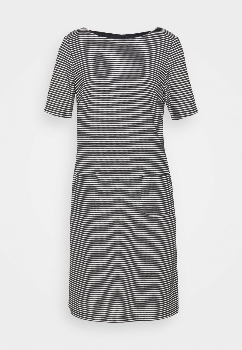 More & More - STRUCTURE DRESS - Gebreide jurk - marine/multicolor