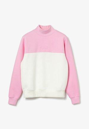 Sweatshirt - rosa / weiß