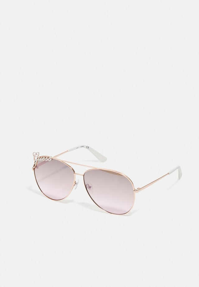 Lunettes de soleil - shiny rose gold/brown mirror