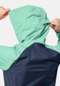 Jack Wolfskin - Waterproof jacket - dark indigo emerald green - 3
