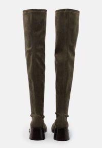 Jeffrey Campbell - PATRIK  - Kozačky nad kolena - khaki - 3